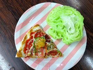 ピザとレタスサンプル